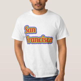 Rainbow San Francisco - on White T-shirts