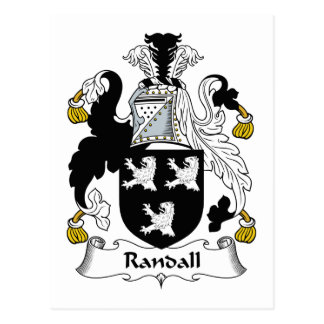 Randall Family Crest Postcard
