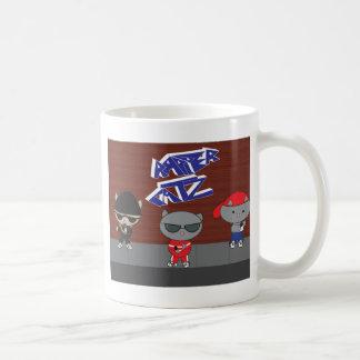 Rapper Cat Group Basic White Mug