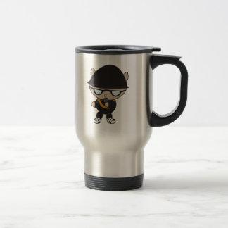 Rapper Cat in Bell Hat Stainless Steel Travel Mug