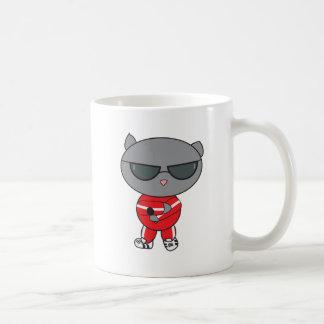 Rapper Cat in Track Suit Basic White Mug