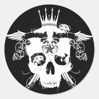 RARE_Destroyed. blk stkr Round Sticker