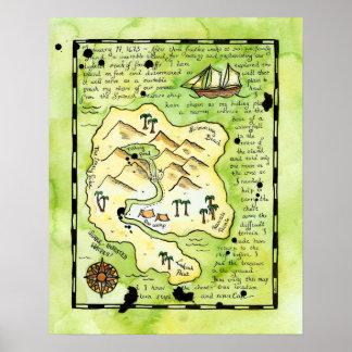 Rascals' Island Pirate Treasure Map Poster