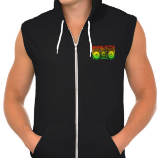 Rasta ghetto blaster hooded sweatshirts