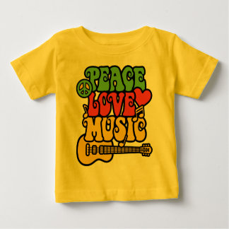 Rasta Peace Love and Music Shirt