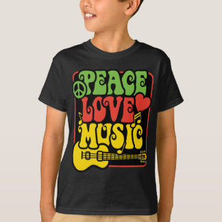 Rasta PEACE-LOVE-MUSIC Tees