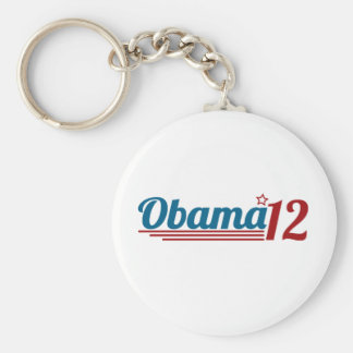 Re-Elect Obama '12 Basic Round Button Key Ring
