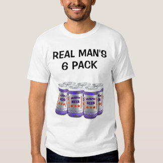 REAL MAN'S 6 PACK T-SHIRTS