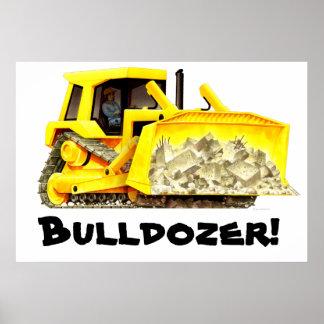 Really Huge Bulldozer Poster