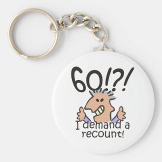Recount 60th Birthday Basic Round Button Key Ring