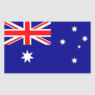 Rectangle sticker with Flag of Australia