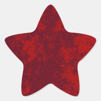 Red1 Soft Grunge Design Star Sticker