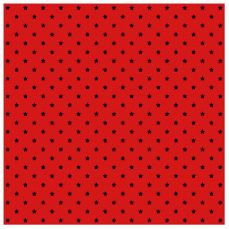 Red and Black Stars Pattern. Photo Sculpture Decoration