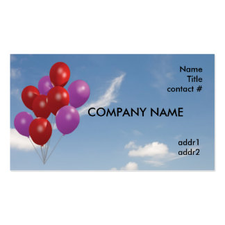 red and pink balloons pack of standard business cards
