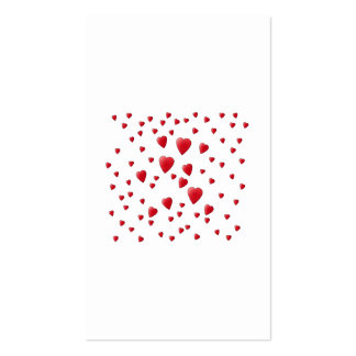Red and White Pattern of Love Hearts. Pack Of Standard Business Cards