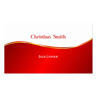 Red and White Wave  Business Card