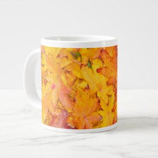 Red And Yellow Decorative Maple Leafs Fall Jumbo Mug