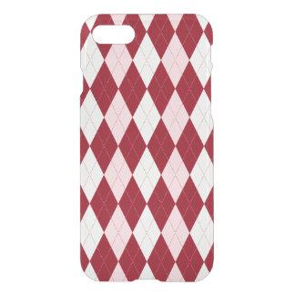 Red Argyle Crimson Pink Small Diamond Shape iPhone 7 Case