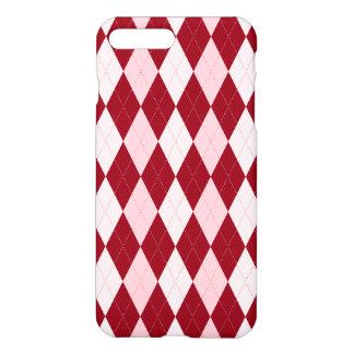Red Argyle Crimson Pink Small Diamond Shape iPhone 7 Plus Case