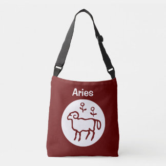 Red Aries Zodiac Sign Tote Bag