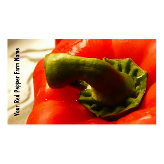 Red Bell Pepper Veggie Growers Pack Of Standard Business Cards