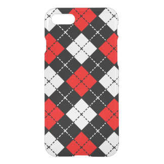 Red Black and White Argyle Pattern iPhone 7 Case