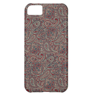 Red Blue Beige Paisley iPhone 5C Case