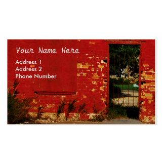 Red Brick Urban Door Customize Pack Of Standard Business Cards