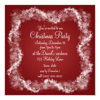 Red Christmas Party Invitations Holiday Xmas