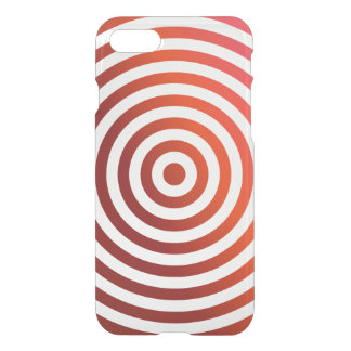 Red concentric circles iPhone 7 case