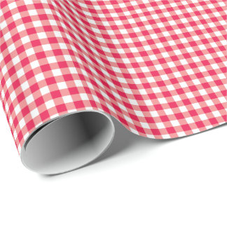 Red Country Gingham Check Pattern
