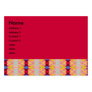 red curls pack of chubby business cards