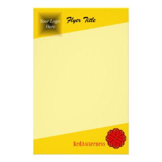 Red Flower Ribbon 14 Cm X 21.5 Cm Flyer