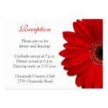 Red Gerber Daisy Wedding Reception Card Pack Of Chubby Business Cards