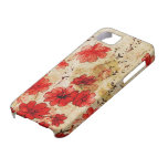 Red Grunge Floral iPhone 5 Case