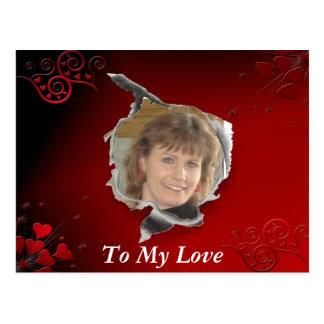 Red Heart frame Postcard