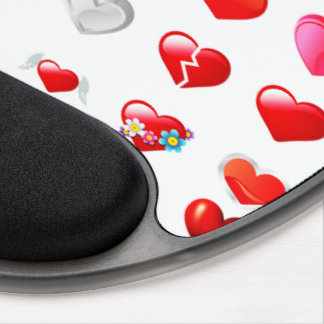 Red Heart Mousepad Gel Mouse Pad