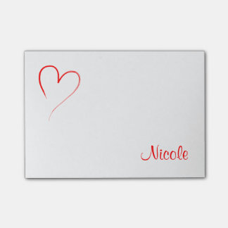 Red Heart Post-it® Notes