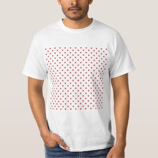 Red Hearts Pattern on a White Background. Shirt