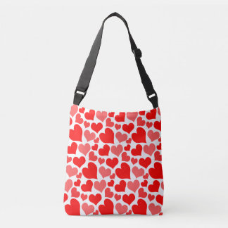 Red Hearts Pattern Tote Bag
