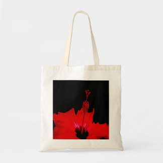 Red Hibiscus Budget Tote Bag