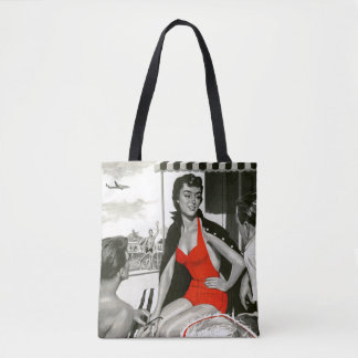 Red Hot Woman Tote Bag