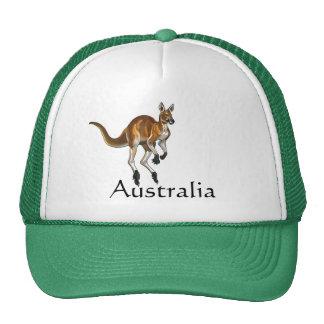 red kangaroo cap