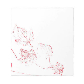 Red Maple Leaves Impression Notepad
