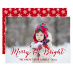 Red Merry and Bright | Holiday Photo Card 13 Cm X 18 Cm Invitation Card
