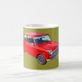 Red Mini Cooper Antique Car Basic White Mug