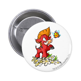 Red Moehog and Buzz 6 Cm Round Badge