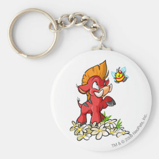 Red Moehog and Buzz Basic Round Button Key Ring