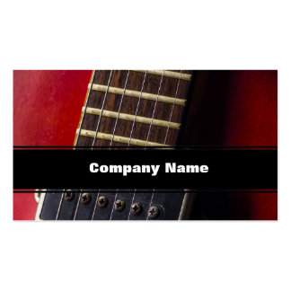 Red Neck HollowBody Guitar Pick-up Pack Of Standard Business Cards