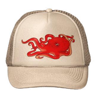 Red Octopus Cap